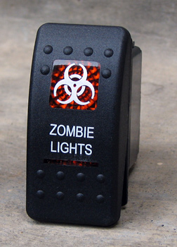 Contura II Sealed rocker switch, ZOMBIE Lights