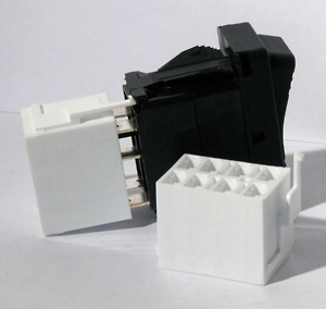8 Terminal Connector Housing- white